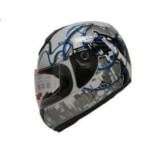Blue City Full Face Motorcycle Street Sport Bike Helmet DOT (XXLarge