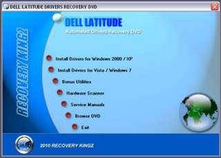 DELL Latitude D610 Driver Recovery Restore Disc Disk