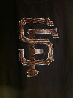 SAN FRANCISCO GIANTS BASEBALL RHINESTONES MEN SHIRTS