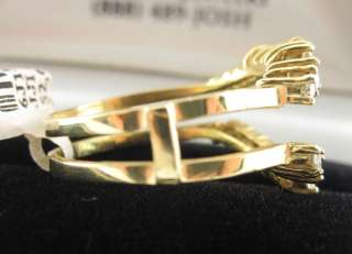 14K YELLOW GOLD DIAMOND RING ENHANCER WRAP JACKET GUARD 6J1331