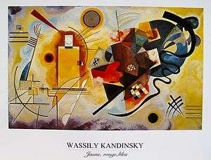 WASSILY KANDINSKY Art Lithograph JUANE, ROUGE, BLEU