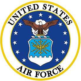 USAF United States Air Force Logo XLG 10 in Embroidered Iron On Patch