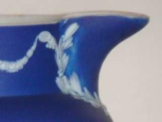 Antique Wedgwood Cobalt Blue Jasperware Small Pitcher |
