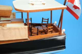 BOAT WOODEN MODEL VINTAGE CABIN CRUISER HAND MADE NOT A KIT NEW