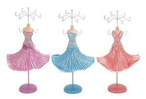 Modern Vintage Dress Form Mannequin Jewelry Holder Stands S/3