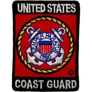 US UNITED STATES COAST GUARD RED Quality Biker Patch